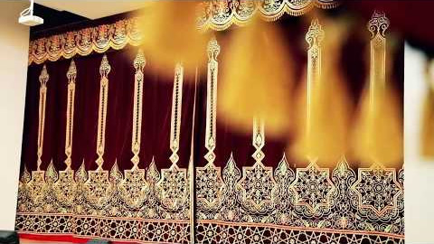 Gold embroidery portieres for Karaulbazar palace of culture scene
